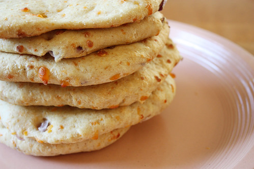 cheesy onion pita bread.