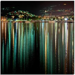 Night projections (Nespyxel) Tags: abstract lines reflections lights nightshot liguria luci nocturne linee lerici nespyxel stefanoscarselli saariysqualitypictures pleasedontusethisimageonwebsites blogsorothermediawithoutmyexplicitpermissionallrightsreserved
