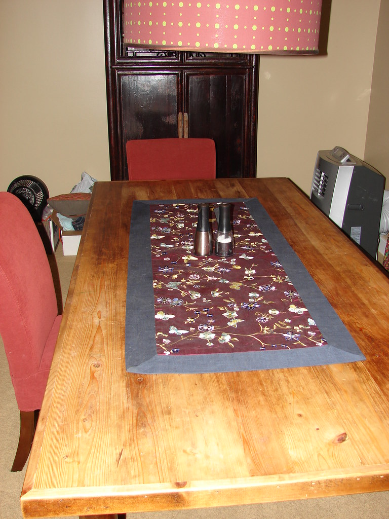 Dining Room Table (SOLD) & Table Runner (SOLD)