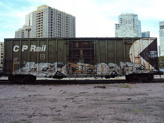 Trains Been Crushed (+PR+) Tags: railroad yards chicago graffiti trains railfan freight boxcars railcars rollingstock rxr benching end2end likeone