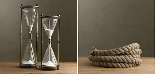 hour glass and rope