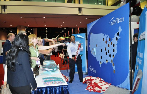 Paper Airplanes at the AirTran Booth