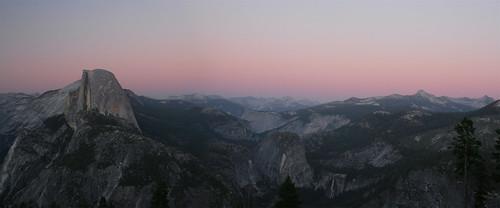 Half Dome Sunset panorama