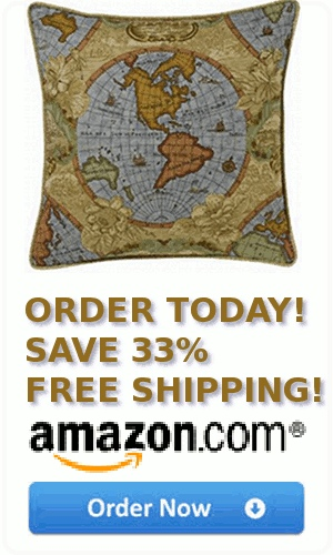 Antique World Map Pillow