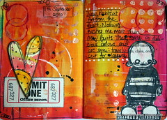 Art journal - new paints (thekathrynwheel) Tags: art notebook artjournal stampotique journalingsketchbook