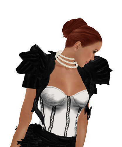 Baiastice_Luna-black-outfit  on Modavia Fashion Week  + Amacci Hair Knot - Red Auburn one of the goodies