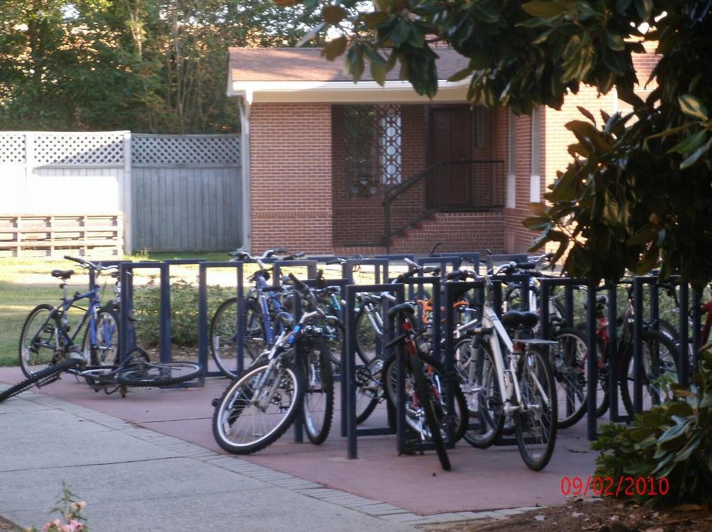 Bike Rack outside of Biology Building