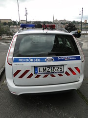 Rear of Hungarian Ford Focus estate police car (Moldovia) Tags: europe centraleurope easterneurope hungary magyarország rendőrség police car policecar lawandorder sonydschx1 travel travelphotography policeforce lawenforcement law policeservice hungarian ford vehicle bridgecamera outdoor