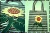 Sacola Ecológica - Girassol (Fuxico de Chita) Tags: de flor artesanal fuxico feltro tecido aplicação sacola ecológica customização sacoladefeira aplicaçãodefeltro sacolaecológica