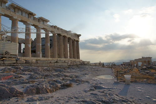 Up at the Parthenon