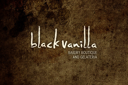 Black Vanilla Logo Texture