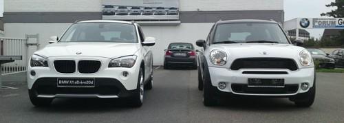 MINI Countryman vs. BMW X1