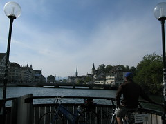 Biking in Zurich Photo