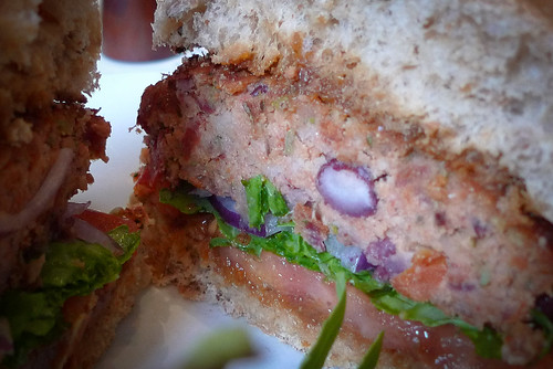 What's inside a Mildred's veggie burger?