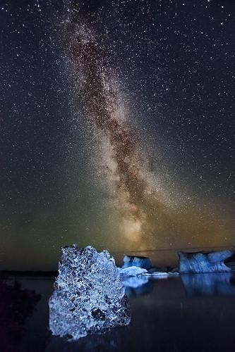 Milky Way - Jökulsárlón, Iceland by orvaratli