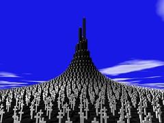 Viereckschanze (fdecomite) Tags: grave spiral math cimetiere tombe povray