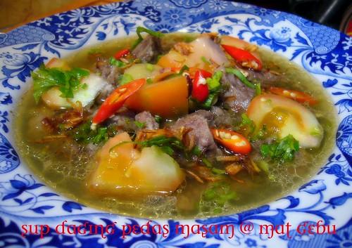 Sup Daging Pedas Masam