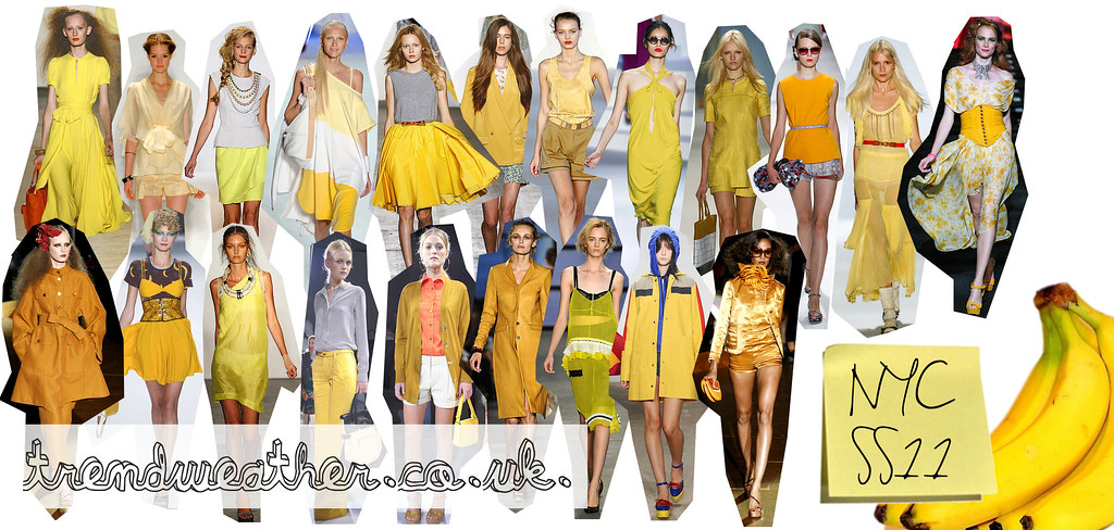 SS11 fashion trend from New York catwalks - YELLOW!