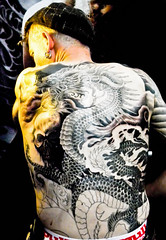 My body is my temple # 1 (Blue Celt) Tags: people paris art bp tatoo baladesparisiennes