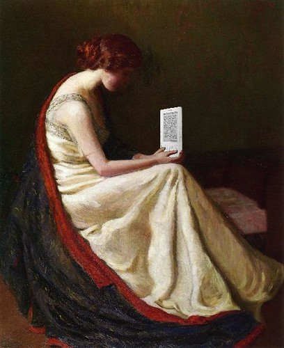 The Kindle Gazer, after Lilla Cabot Perry