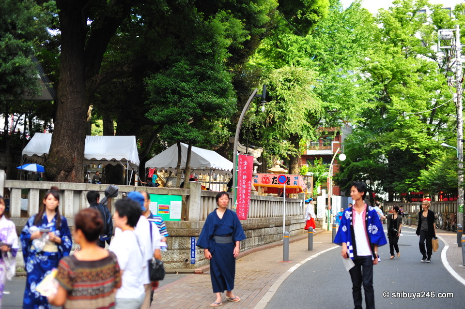It is a nice green area of Shibuya near the Konnou Hachimangu Shrine. Well worth a visit on any day