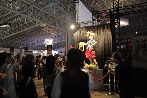 Lots of people snapping photos of Kingdom Hearts' Sora