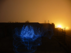 Presidio lightpainting in WWII turrets