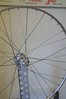 Newly laced wheel (Matthew Byrne) Tags: bike wheel hub vintage cycling nipples spokes cleaning cycle record restoration rim truingstand degreasing campagnola truing wheeltruing