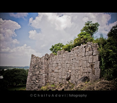 a wall in Golconda ( C H A I T U) Tags: sky monument wall golkonda hyderabad hdr golconda hyd