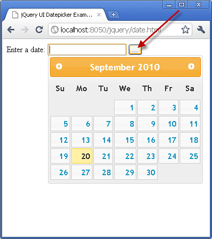 jQuery UI Adding a Trigger Button for Datepicker Tutorial