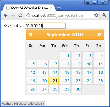 jQuery UI Datepicker date format tutorial