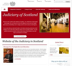 Judiciary of Scotland website cover