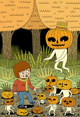 Autumn (Jack Teagle) Tags: autumn halloween night lost woods child drawing pumpkins innocent creepy spirits ghouls pumpkinking