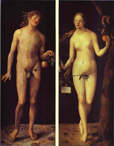 Adam and Eve, Albrecht Dürer, Oil on Panel