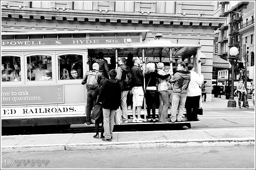 Cable Car B&W.