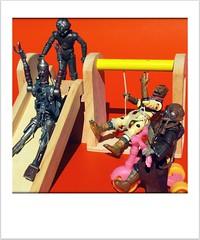 Recess (8 Skeins of Danger) Tags: playground starwars tricycle slide swing ig88 bossk 4lom zuckuss bountyhunters 8skeinsofdanger