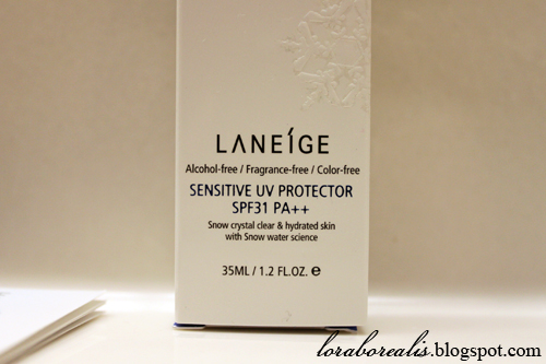 Laneige Sensitive UV Protector02