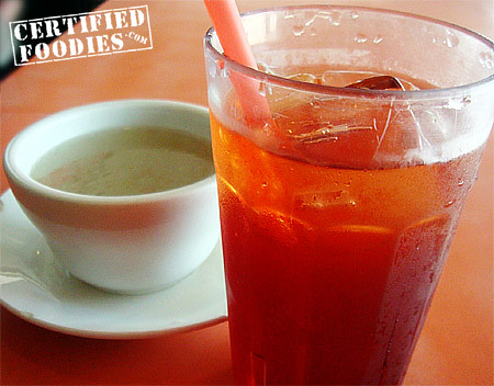 Best Friends - Iced Tea and complimentary soup - CertifiedFoodies.com