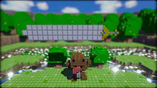 3D Dot Game Heroes for PS3: Sackboy