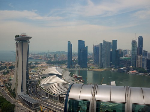 The view from the Singapore Flyer