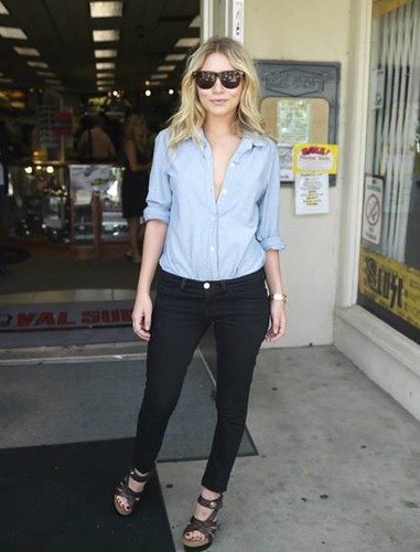Ashley Olsen Denim Shirt