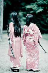 Kimonos + Katanas = AWESOME