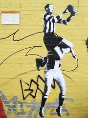 repeat (the euskadi 11) Tags: street art up st football collingwood paste australia melbourne grand final kilda afl