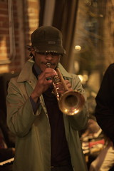 . (mangpages) Tags: musician man guy cafe trumpet jazz dude faire horn