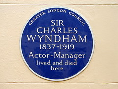 Photo of Charles Wyndham blue plaque