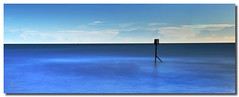 In A Sea Of Blue (Warren D) Tags: longexposure seascape beach cleveland earlymorning august northsea groyne teesside 2010 breakwater redcar leefilters groynemarker warrendaviesphotographycouk thebigstopper