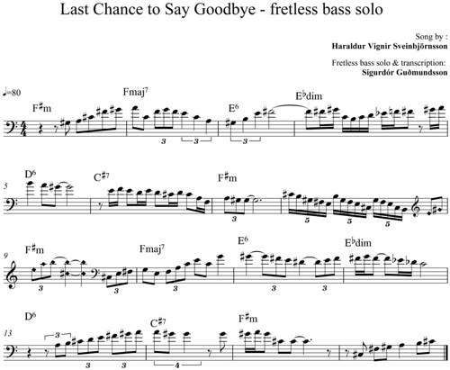 Last Chance to Say Goodbye - fretless bass solo