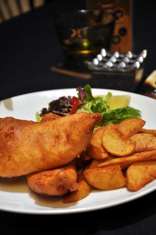 Arthur's Day Guinness battered fish n chiips