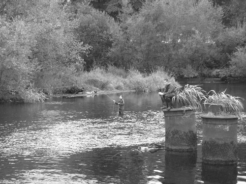 fly fishing in the Lee
