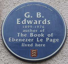 Photo of G. B. Edwards blue plaque